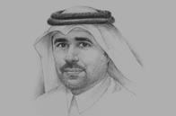 Sketch of Essa bin Hilal Al Kuwari, President, KAHRAMAA (Qatar General Electricity and Water Corporation)