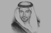 Sketch of Sheikh Hamdan bin Zayed Al Nahyan, Ruler's Representative in the Western Region