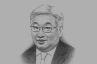 Sketch of Erdeniin Bat-Üül, Governor of Capital City and Mayor of Ulaanbaatar (UB)