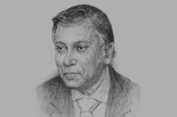 Sketch of Nor Mohamed Yakcop, Minister in the Prime Minister's Department, Economic Planning Unit