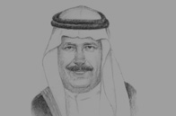 Sketch of Prince Fahad bin Abdullah bin Muhammad, President, General Authority of Civil Aviation (GACA), and Chairman of the Board of Directors, Saudia