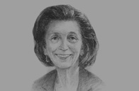 Sketch of  Nicole Bricq, French Minister for Foreign Trade