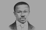 Sketch of Nana Kwame Bediako, President and CEO, Petronia City Development