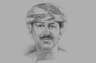 Sketch of Hamood Al Zadjali, Executive President, Central Bank of Oman (CBO)