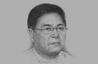 Sketch of U Soe Thane, Minister of the President's Office, and Former Chairman, Myanmar Investment Commission (MIC)