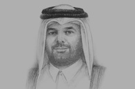 Sketch of  Sheikh Abdulla bin Ali Al Thani, President, Hamad bin Khalifa University (HBKU), and Vice-President of Education, Qatar Foundation