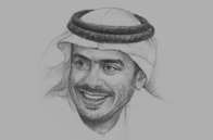 Sketch of  Sheikh Sultan bin Tahnoon Al Nahyan, Chairman, Abu Dhabi Tourism & Culture Authority (TCA Abu Dhabi)