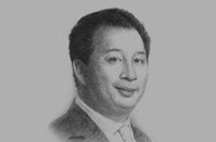Sketch of Pete Bodharamik, CEO