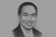 Sketch of Muhammad Lutfi, Minister of Trade