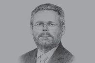 Sketch of <p>Rob Davies, Minister of Trade and Industry</p>