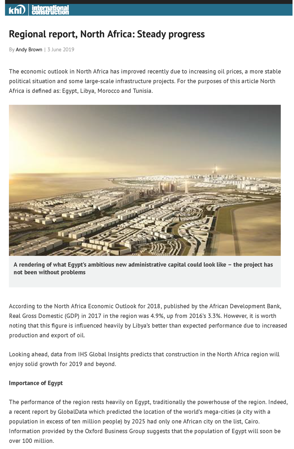 The Report: Egypt 2019 | Oxford Business Group