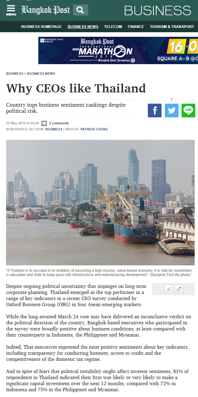 The Report: Thailand 2018 | Oxford Business Group