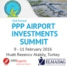 2nd Annual PPP Airport Investments Summit Istanbul 2016 - banner advert