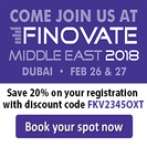 Finovate Middle East Banner advert