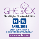 Global Higher Education Exhibition banner advert