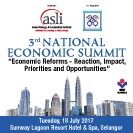 The 3rd National Economic Summit banner