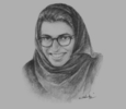 Sketch of Noura Al Kaabi, CEO, twofour54