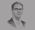 Sketch of Tobias Ellwood MP, UK Parliamentary Under Secretary of State for Middle East and North Africa