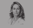 Sketch of Ségolène Royal, French Minister of Ecology, Sustainable Development and Energy