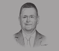 Sketch of Michael Lally, US Deputy Assistant Secretary of Commerce for Europe, the Middle East and Africa