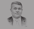 Sketch of Salah Khebri, Minister of Energy