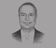 Sketch of Samer Khoury, President of Engineering and Construction, Consolidated Contractors Company (CCC)