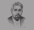 Sketch of Sid Ahmed Ferroukhi, Minister of Agriculture, Rural Development and Fisheries