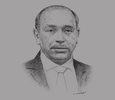 Sketch of Mohamed Mebarki, Minister of Training and Professional Education