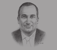 Sketch of Samir Hadj Ali, Chartered Accountant and Managing Partner, Mazars