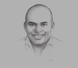 Sketch of Jambu Palaniappan, Regional General Manager for Middle East and Africa, Uber