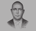 Sketch of Adan Mohamed, Cabinet Secretary, Ministry of Industrialisation and Enterprise Development