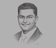 Sketch of Darshan Chandaria, Group CEO, Chandaria Group of Companies
