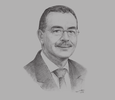 Sketch of Mahmud Janmohamed, Managing Director, Serena Hotels Africa