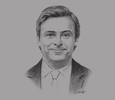 Sketch of Carlo Calenda, Deputy Minister of Economic Development of Italy