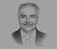 Sketch of Anis Aclimandos, President, American Chamber of Commerce in Egypt (AmCham Egypt)