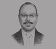 Sketch of Hany Kadry Dimian, Minister of Finance