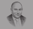 Sketch of Alaa Omar, CEO, General Authority for Investment and Free Zones (GAFI)