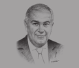 Sketch of Hussein Choucri, Chairman and Managing Director, HC Securities & Investment