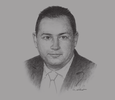 Sketch of Mohamed Omran, CEO, Egyptian Exchange (EGX)