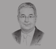 Sketch of Mohamed Mohsen Salah El Din, Chairman, The Arab Contractors