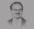 Sketch of Yasser El Kady, Minister of Communications and Information Technology