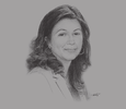Sketch of Hend El Sherbini, CEO, Integrated Diagnostics Holdings
