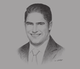 Sketch of Ahmed Abou Hashima, Chairman and CEO, Egyptian Steel