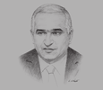 Sketch of Shahin Mustafayev, Azerbaijani Minister of Economy and Industry