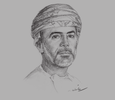 Sketch of Sheikh Abdullah bin Al Salmi, Executive President, Capital Market Authority (CMA)