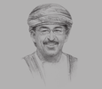 Sketch of Dr. Ahmed Bin Mohammed Bin Obaid Al Saidi, Minister of Health