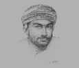 Sketch of Qais Saud Al Zakwani, Executive Director, Authority for Electricity Regulation