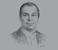 Sketch of  Mohamad Talaat, Co-Managing Partner, Helmy, Hamza & Partners