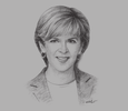 Sketch of Julie Bishop, Australian Minister for Foreign Affairs