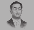 Sketch of U Zay Yar Aung, Chairman, Myanmar Investment Commission (MIC)